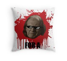 Nice day for a red wedding Throw Pillow