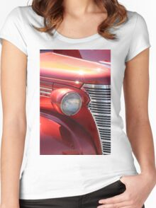 Orange Old Antique Muscle Car Women's Fitted Scoop T-Shirt