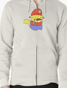 Pikachu/Mario Zipped Hoodie