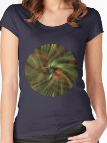 Green Swirl Women's Fitted Scoop T-Shirt