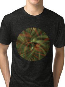 Green Swirl Tri-blend T-Shirt