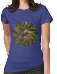 Green Swirl Womens Fitted T-Shirt