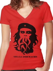 Chethulhu Women's Fitted V-Neck T-Shirt