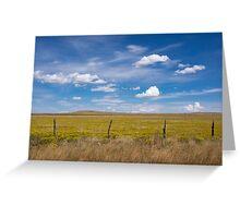 Rural scene. Greeting Card