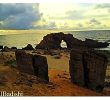 The Drilled Rock in Jericoacoara, Brazil Photographic Print