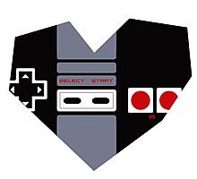 I Heart Gaming - NES Photographic Print