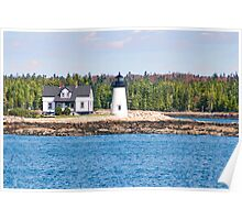 Lighthouse along Maine Coast in New England Poster