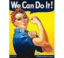 Vintage poster - Rosie the Riveter Photographic Print