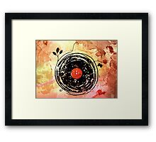 Enchanting Vinyl Records Vintage Framed Print