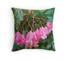 Begonia Bunch Throw Pillow