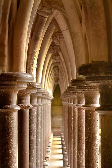 Mont Saint-Michel - The Cloister by Buckwhite