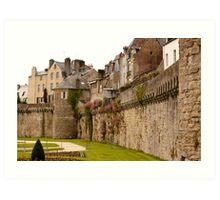 Ramparts de Vannes - Morbihan France Art Print