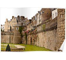 Ramparts de Vannes - Morbihan France Poster