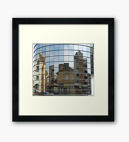 Distorted Reflections Framed Print
