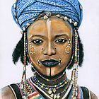 Young Wodaabe Man by Nicole Zeug