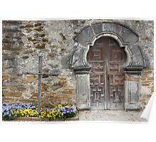 Espada Doorway and Cross Poster