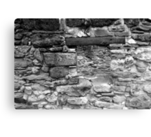 A Space Behind a Space Black and White Canvas Print