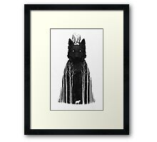 The Wolf King Framed Print