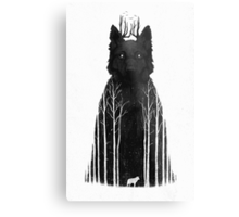 The Wolf King Metal Print
