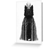 The Wolf King Greeting Card
