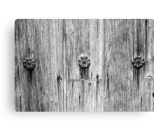 San Juan Doorway Detail Black and White Canvas Print