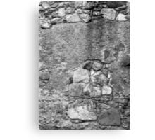 San Juan Wall 2 Black and White Canvas Print