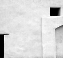 San Juan Wall Abstract 3 Black and White by marybedy