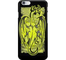 Yellow black grunge dragon iPhone Case/Skin