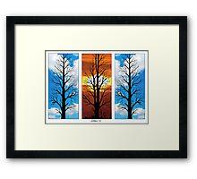 THREE TREES IN A ROW Framed Print