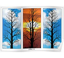THREE TREES IN A ROW Poster