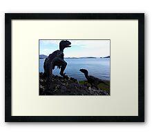 Raptors on the Rocks Framed Print
