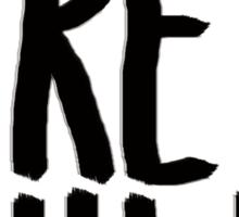 TEAM FREE WILL (black print) Sticker