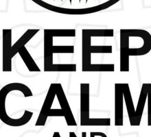 Jack Skellington-Keep Calm Design Sticker
