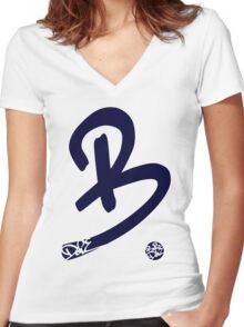 Be Dope (Blue) Women's Fitted V-Neck T-Shirt
