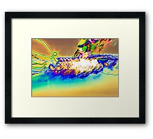 The Star Ship is being Attacked by rainbows  experiential photograph Framed Print