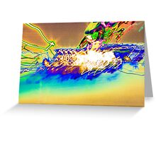 The Star Ship is being Attacked by rainbows  experiential photograph Greeting Card
