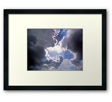 ©HCS Ahura Mazda And Clouds Framed Print