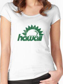 hawaiian surfer sun Women's Fitted Scoop T-Shirt