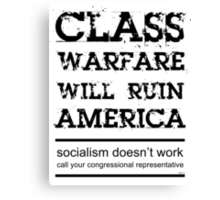 Class Warfare Canvas Print