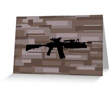 M4A1 Marpat Greeting Card