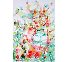 PIT BULL in the GARDEN Photographic Print