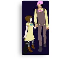 Markiplier and Fran Bow Canvas Print