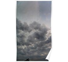 ©HCS Grey Clouds In Vertical I Poster