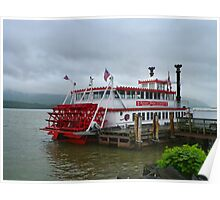 Stern Driven Paddle Wheel Vessel Poster