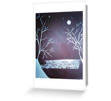 Snow Fields - Acrylic Painting Greeting Card