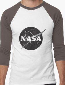 NASA Black Men's Baseball ¾ T-Shirt