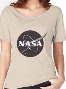 NASA Black Women's Relaxed Fit T-Shirt