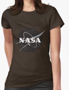 NASA Black Womens Fitted T-Shirt