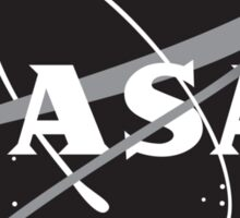NASA Black (with white border) Sticker