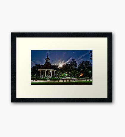 Supermoon Over Chapelfield Gardens Framed Print